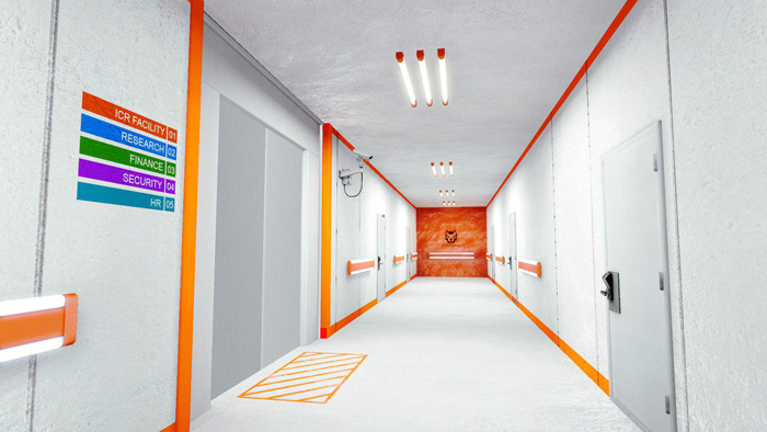 Mirrors edge orange bands
