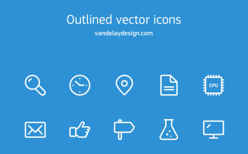 10 Simple Outline Icon Vectors – Free Download