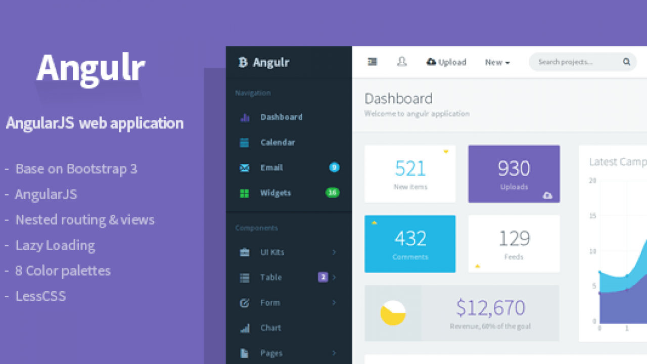 20+ AngularJS Admin Templates for Download - Super Dev Resources