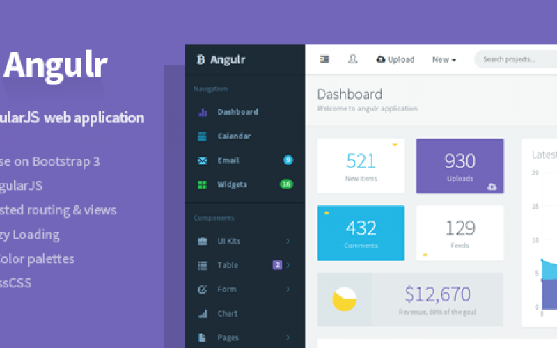 20+ AngularJS Admin Templates for Download