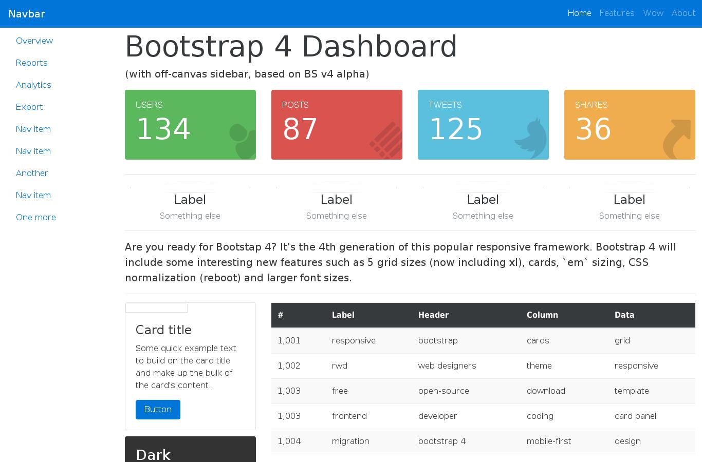 Best bootstrap navigation templates template / 2018