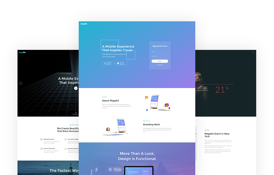 multi-purpose bootstrap template