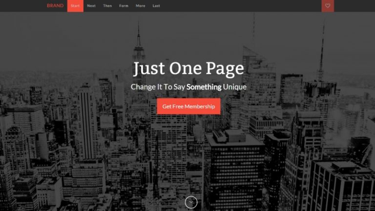 one-page-bootstrap