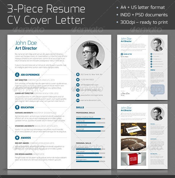 3-Piece-Resume-CV-Cover-Letter