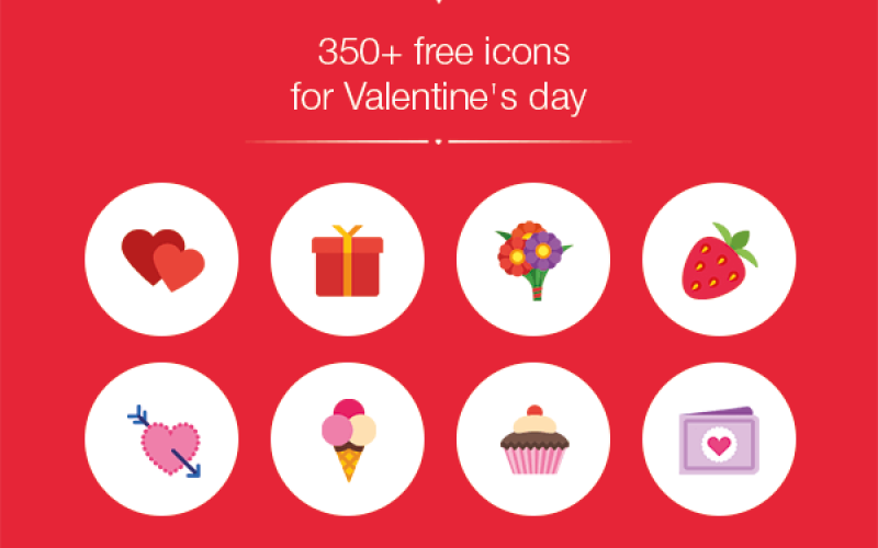 350+ Free Valentine's Day Icons
