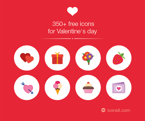350 free valentine's day icons
