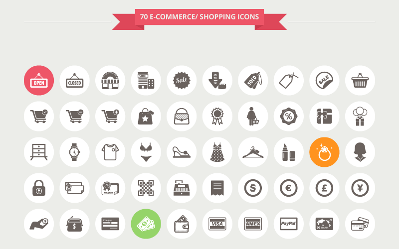 12 Free ECommerce &amp Shopping Icon Sets  Super Dev Resources