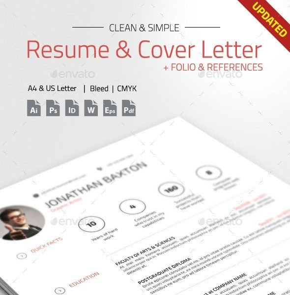 Clean U0026 Simple Resume CV  Simple Resume Template Free Download