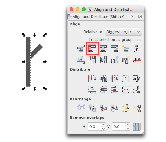 align-inkscape