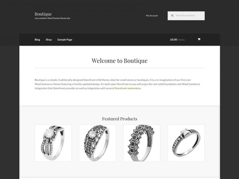 boutique free woocommerce theme