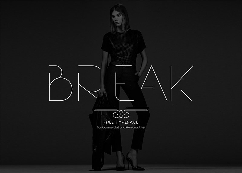 break-modern-thin-font