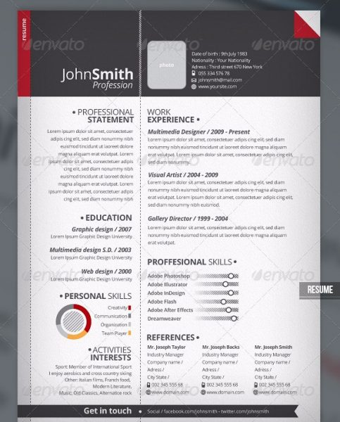 2 Piece Pro Resume + Cover Letter  Cool Resume Designs
