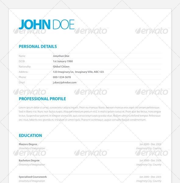 Clean Elegant Resume  Sample Resume Word