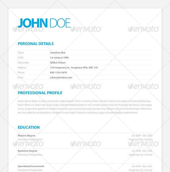 Clean Elegant Resume  Clean Resume Templates