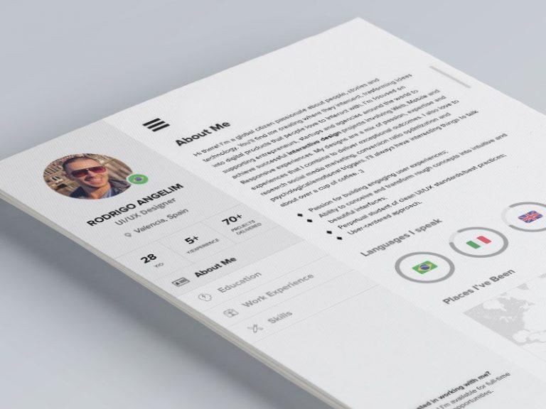 28 minimal creative resume templates psd word ai free
