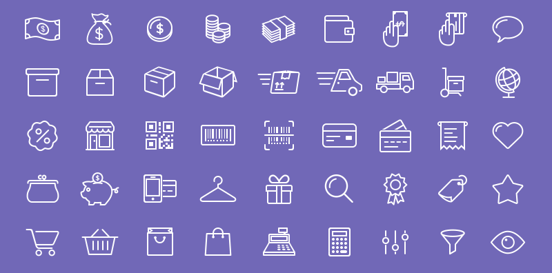 12 free ecommerce amp shopping icon sets super dev resources