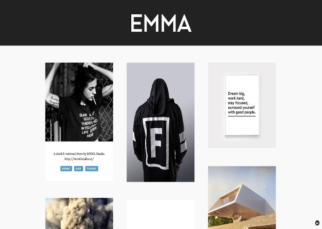25 responsive tumblr themes for photographers photobloggers emma is a sleek and minimal tumblr theme with flowing grid perfect for photo bloggers it comes with disqus comments integration google analytics pronofoot35fo Gallery