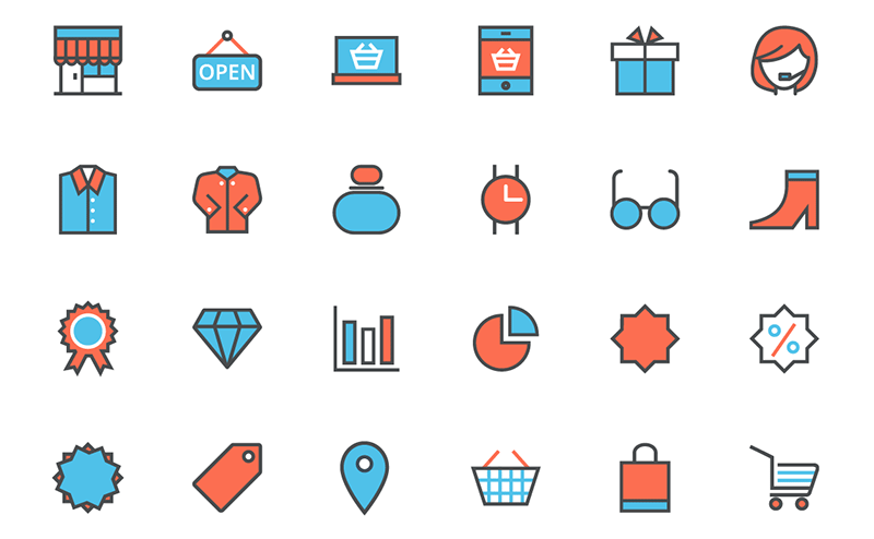 12 free ecommerce shopping icon sets super dev resources 80 free vector flat shopping line icon set altavistaventures Images