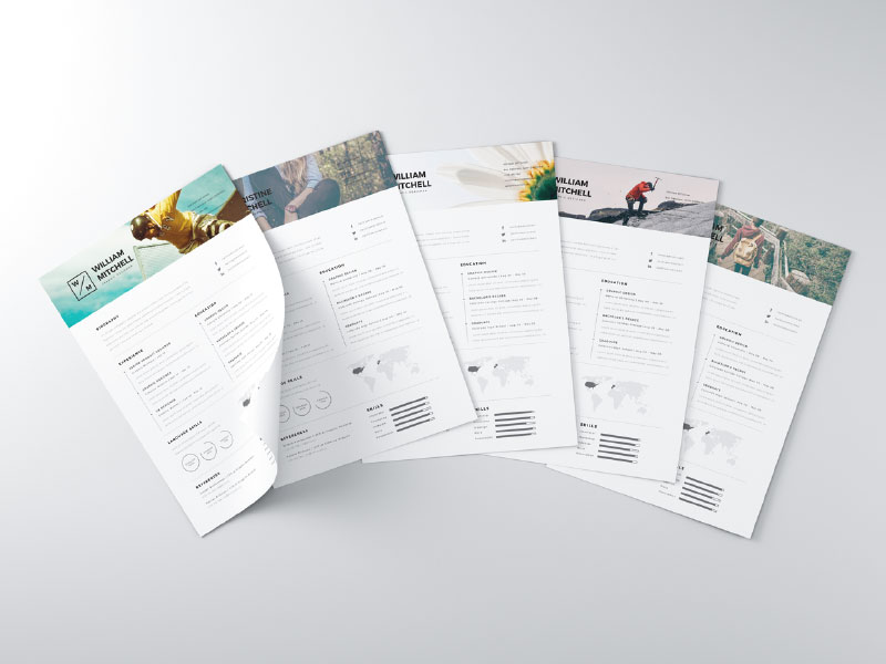 free minimal clean resume template - Resume Templates Graphic Design Free