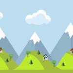 Free Mountain Landscape Wallpaper