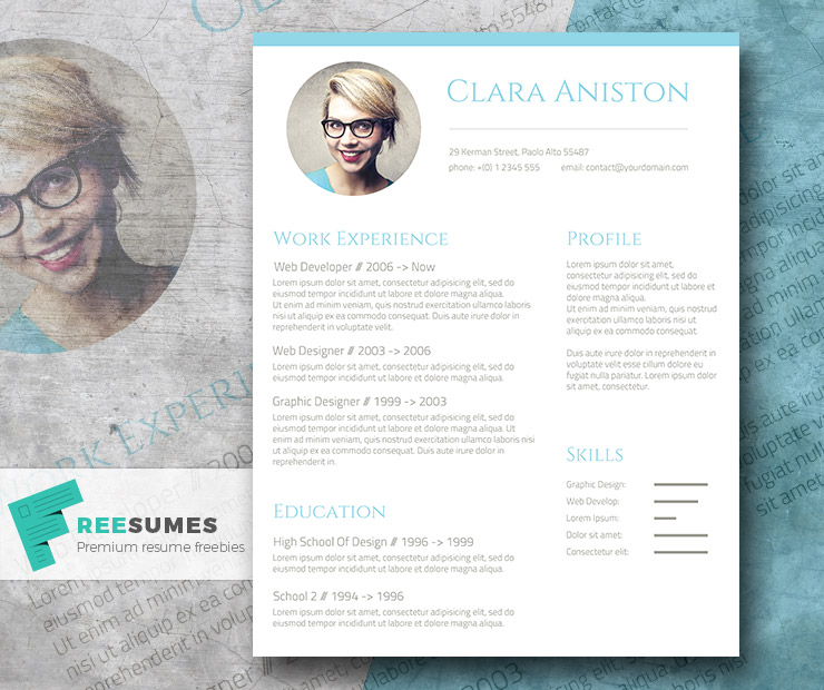 28 minimal creative resume templates psd word ai free freebie resume template maxwellsz
