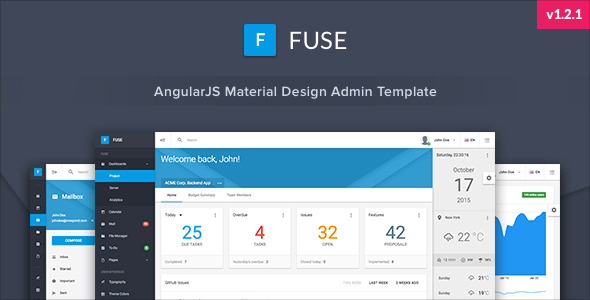 20 angularjs admin templates for download super dev resources fuse angularjs material design admin template maxwellsz