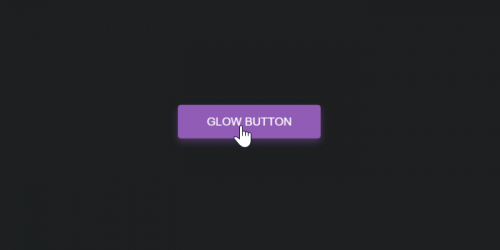 glow button effect css