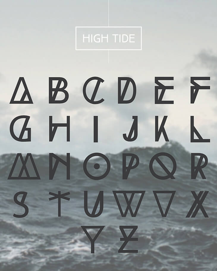 high-tide-decorative-font