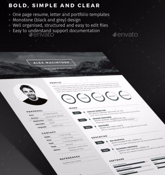 28 minimal  u0026 creative resume templates