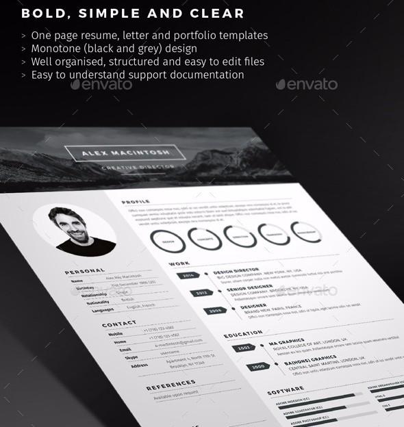 mono-resume-template