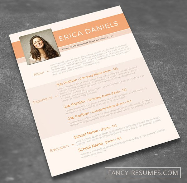 make your cv shine and win the competition with this free template offered by fancy resumes the file is in psd format editable with photoshop - Creative Resume Templates Free Word