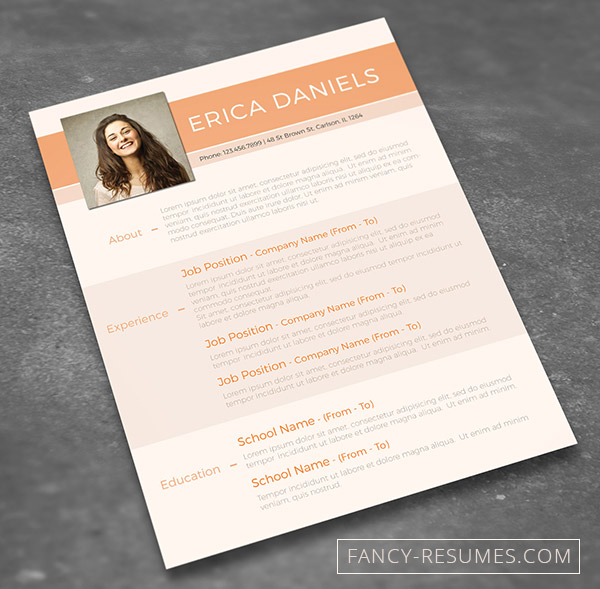 make your cv shine and win the competition with this free template offered by fancy resumes the file is in psd format editable with photoshop download - Creative Resume Template Download Free