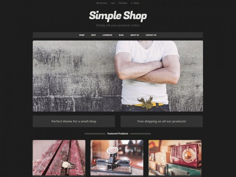 simple shop theme