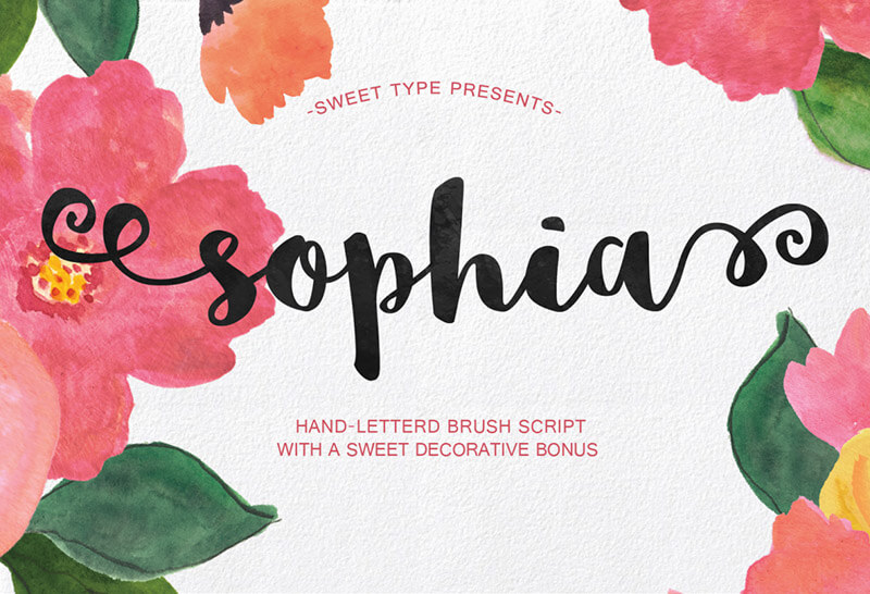 sophia-free-script-font