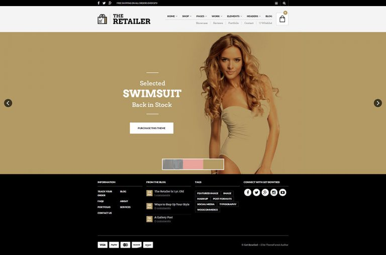 the retailer ecommerce theme