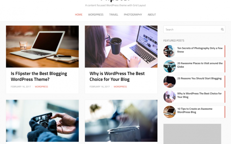 Freebie: Flipster WordPress Theme built with Beans Theme Framework