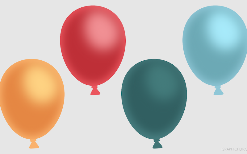 Free Download: Colorful Balloons (PNG) for Game Development