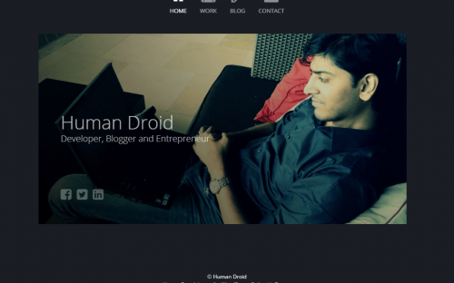 Freebie: Human Droid WordPress Theme for Personal Website and Blog