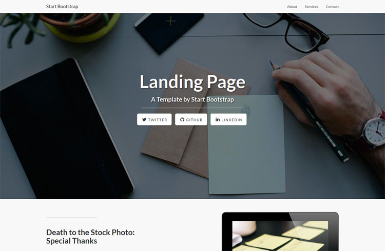 html welcome page template - 30 one page website templates built with html5 css3