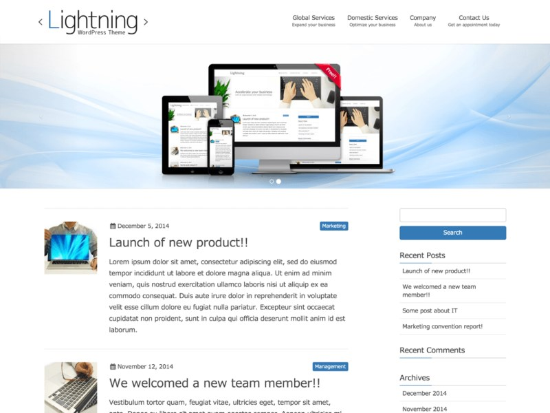 lightning-wordpress-theme