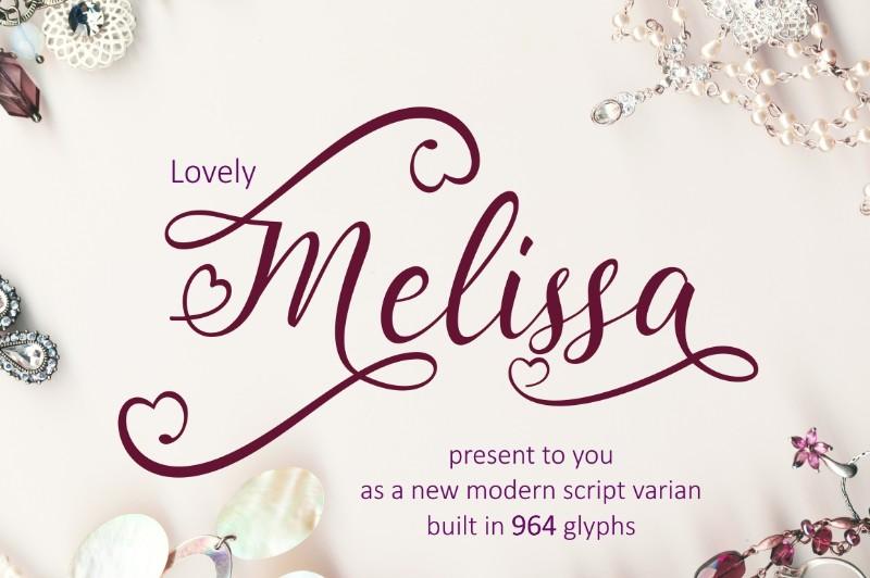 lovely-melissa-font