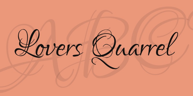 lovers-quarrel-font