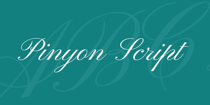 Pinyon Script Free Romantic Font