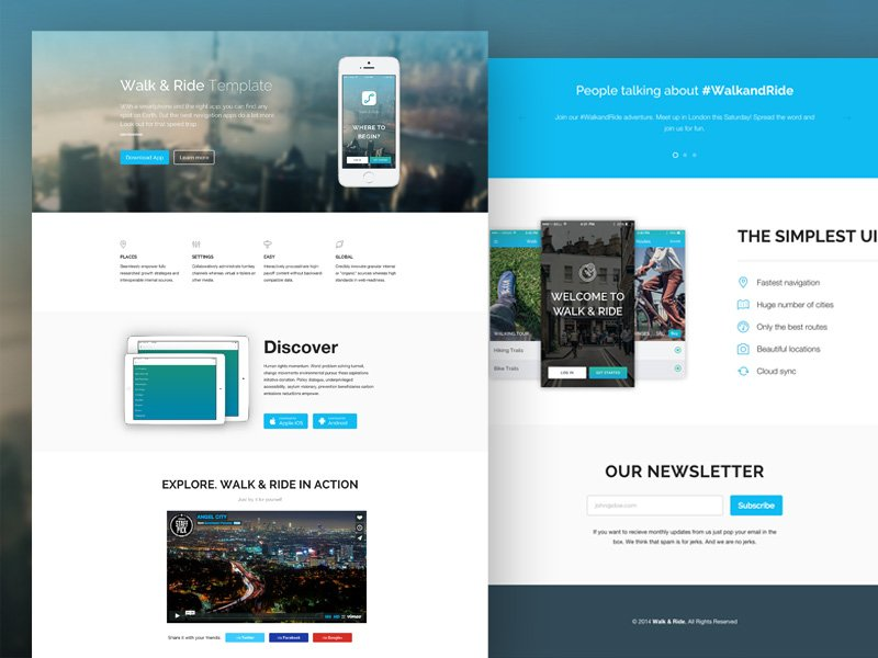 30+ One Page Website Templates built with HTML5 & CSS3 - TemplateFlip