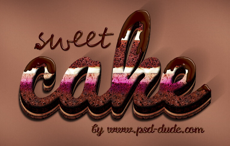 cake-with-cream-and-chocolate-photoshop-text-effect-tutorial