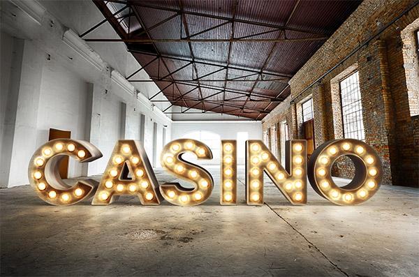 casino bulb sign effect