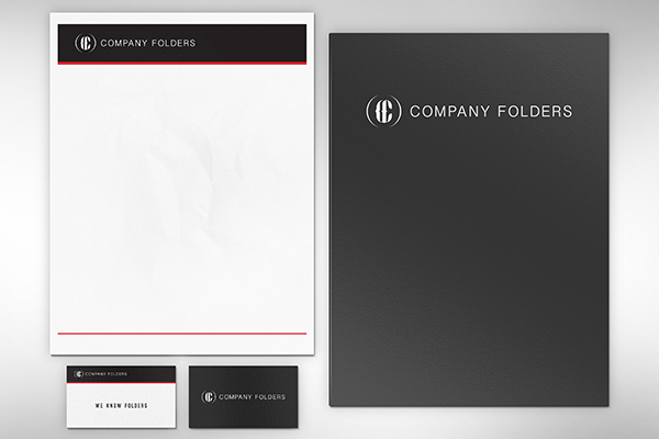 Folder Letterhead Business Card Mockup Psd Template