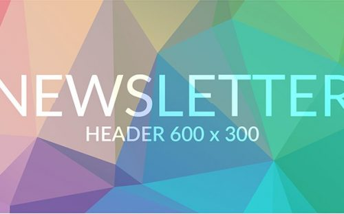 Freebie: Newsletter Template with beautiful Geometric Design – AI, EPS, SVG & PSD