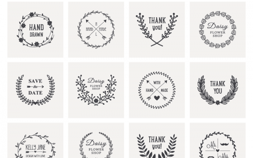 Free Download: 20 Hand Drawn Laurel Wreath Vectors
