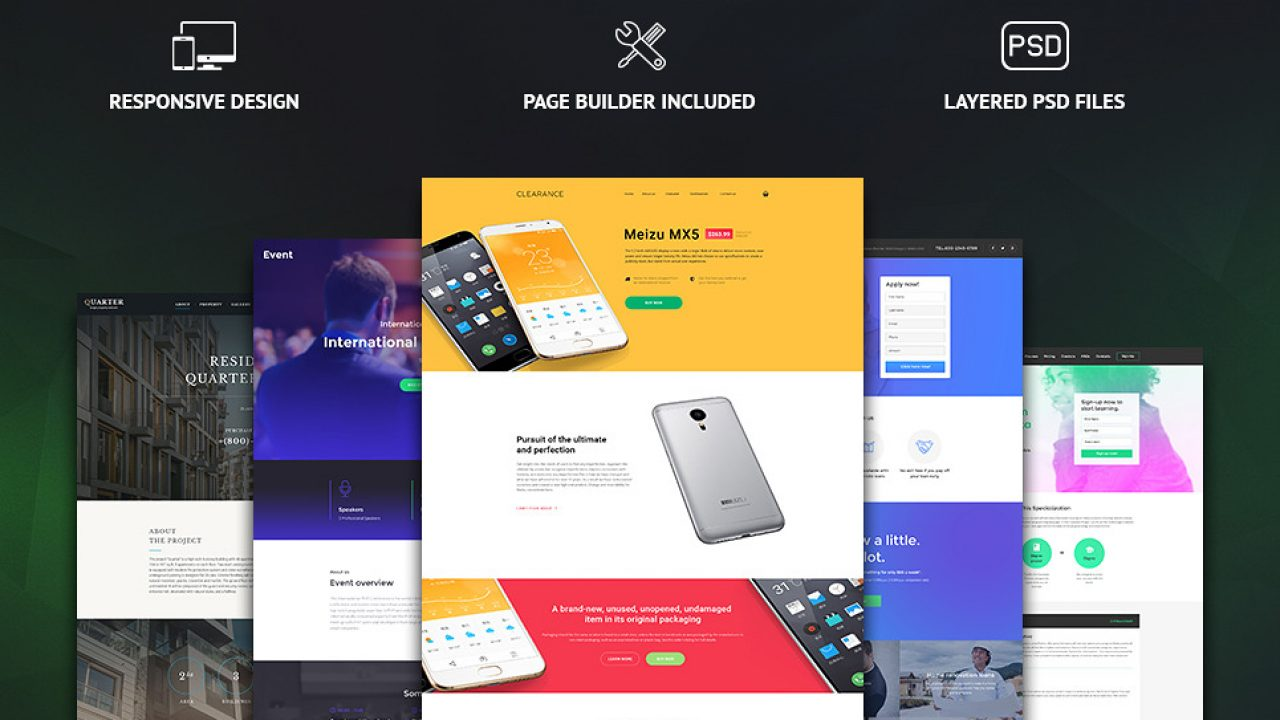 30+ One Page Website Templates built with HTML5 & CSS3